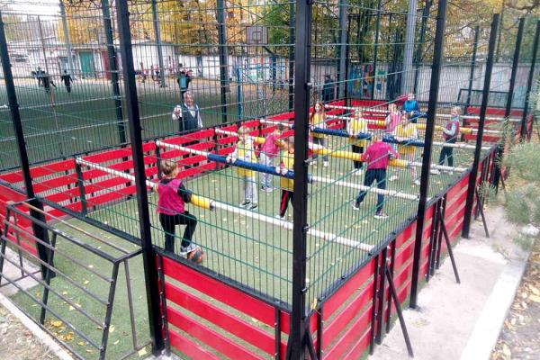 У Тернополі облаштували унікальний майданчик за схемою настільного футболу