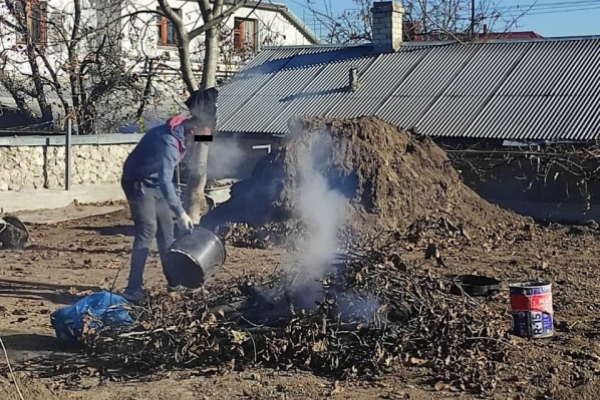 Спалював листя: на жителя Тернополя оформили адмінпротокол