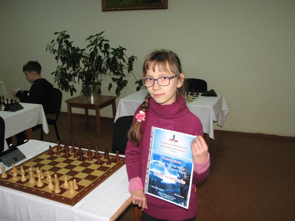 Чемпіон Тернопільщини з шахів – 11-річна Віра (Фото)