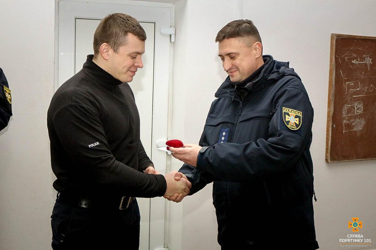 Тернопільський патрульний отримав нагороду «За заслуги» (Фото)